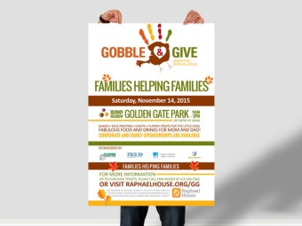 Raphael House Gobble & Give Event Materials